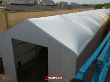 Hala namiotowa 10x60m z dachem pompowanym