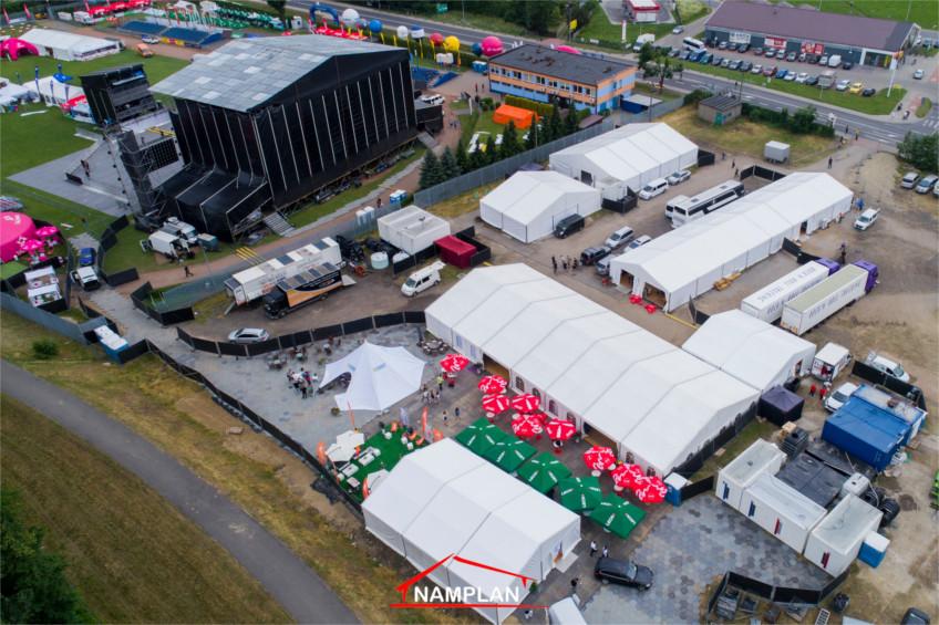 Hale namiotowe Namplan na Life Festival 2018