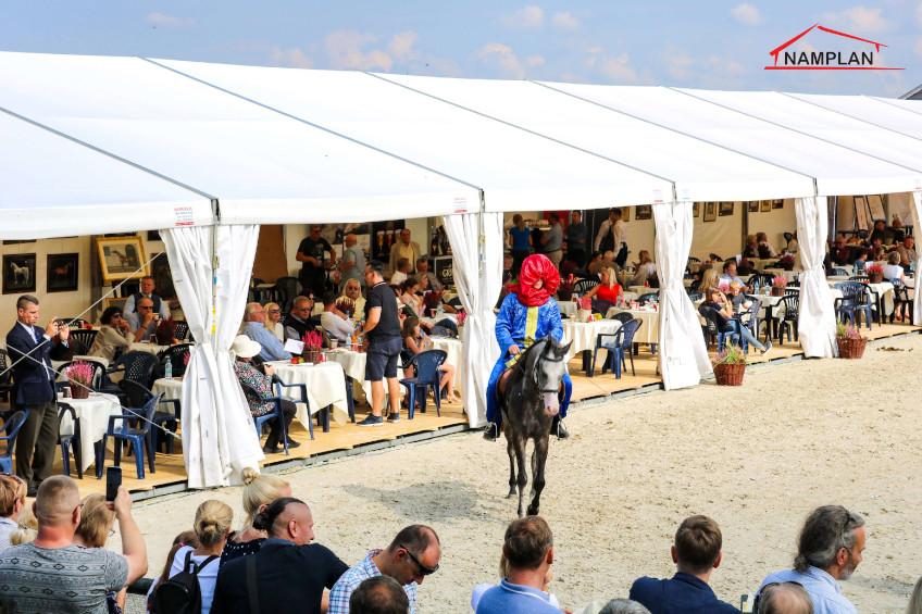 Hale namiotowe NAMPLAN na zawodach konnych w KJK Szary Michałowice
